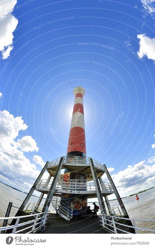 Raketenabflugstation Himmel blau schön weiß Sommer Sonne rot Wolken Leben außergewöhnlich Erde Horizont glänzend Erfolg authentisch verrückt