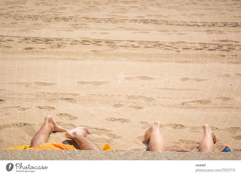 Vierfüßlerstrand Mensch Kind Ferien & Urlaub & Reisen Jugendliche schön Sommer Meer Erholung Junge Frau ruhig Landschaft Strand Junger Mann 18-30 Jahre Ferne