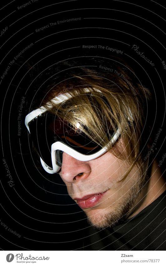 durchblick die II. Mann Jugendliche Gesicht Schnee Stil Haare & Frisuren Coolness Brille Langeweile Freak lässig Durchblick Schneebrille