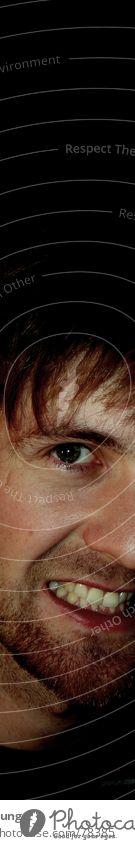 Bartstudie, die zweite Mann schön Auge Nase maskulin Lippen Bart Hals Kinn Dreitagebart Stoppel Pubertät Kinnbart unrasiert