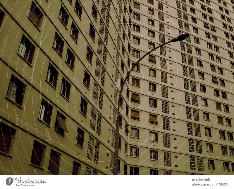 MARSEILLE Stadt Haus Leben Fenster Gebäude Arbeit & Erwerbstätigkeit Wohnung Beton Design Hochhaus trist Häusliches Leben Ladengeschäft Etage