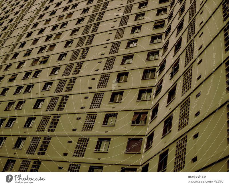 MARSEILLE Stadt Haus Leben Fenster Gebäude Arbeit & Erwerbstätigkeit Wohnung Beton Design Hochhaus trist Häusliches Leben Trauer Ladengeschäft