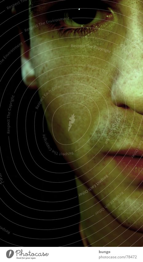 Studie(render) ohne Bart Lippen Hälfte Enttäuschung krankhaft Ekel ungesund bewegungslos Frustration Entschlossenheit zielstrebig Wut Verzweiflung Porträt