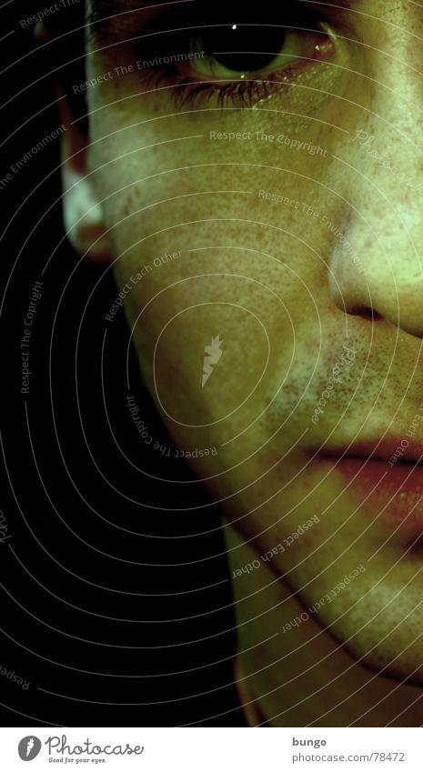 Studie(render) ohne Bart Mann Auge Angst Haut Nase leer Trauer Lippen Wut Verzweiflung Hälfte Ekel Ärger Frustration bewegungslos Anschnitt