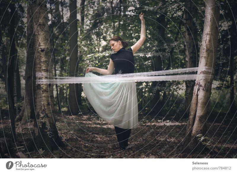 dance Haut Mensch feminin Frau Erwachsene 1 18-30 Jahre Jugendliche Tanzen Tänzer Umwelt Natur Frühling Sommer Schönes Wetter Pflanze Baum Birke Wald Rock