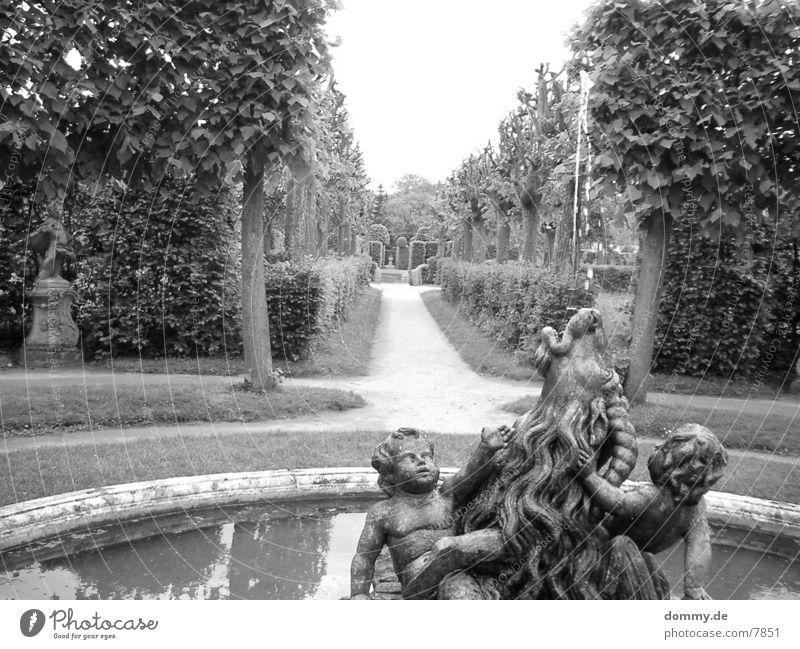 Hofgarten Sträucher Brunnen Garten Wege & Pfade kaz