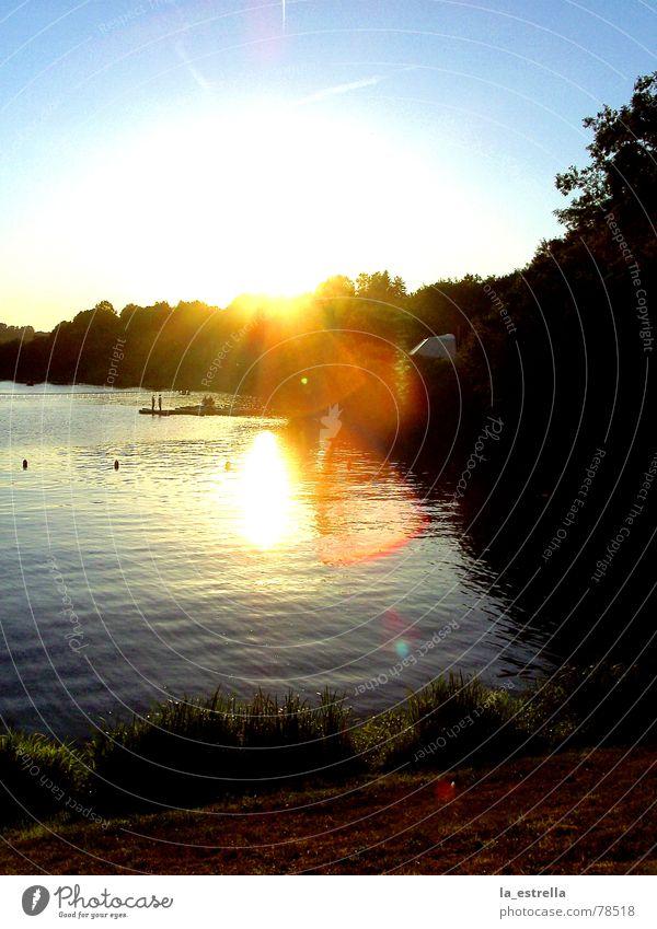 Sunset Himmel Natur blau Wasser schön Ferien & Urlaub & Reisen Sonne Sommer Einsamkeit ruhig Erholung Umwelt Leben Wärme Glück See