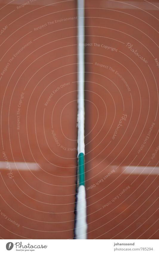 Tennisplatz 4 Netz Linie Sand orange abstrakt Sport Freizeit & Hobby Wimbledon parken ruhig vergessen Spielen Fitness grün Gegenteil Räume Strukturen & Formen
