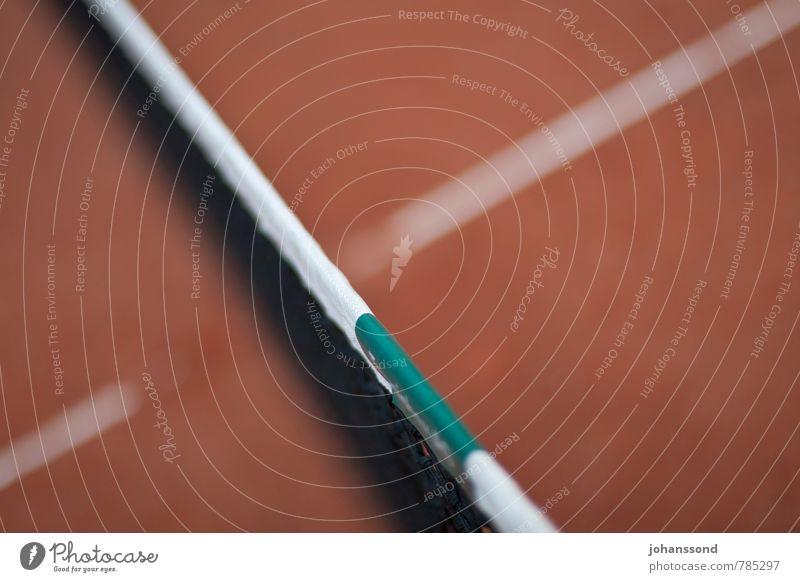 Tennisplatz 3 Netz Linie Sand orange abstrakt Sport Freizeit & Hobby Wimbledon parken ruhig vergessen Spielen Fitness grün Gegenteil Räume Strukturen & Formen