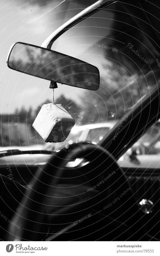 muscle car interior Siebziger Jahre Lenkrad Rückspiegel Dekoration & Verzierung Fahrzeug Stil retro USA Verkehr v8 PKW Fensterscheibe gefährt Würfel