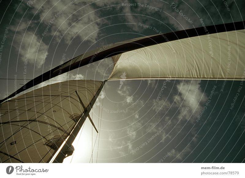 segel Himmel weiß Sonne Meer blau Sommer Ferien & Urlaub & Reisen Wolken Sport Erholung träumen See Wasserfahrzeug Zufriedenheit Unendlichkeit Weltall