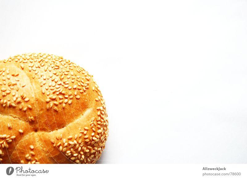 Sesam öffne Dich weiß Ernährung Brot klein Lebensmittel Appetit & Hunger Frühstück Backwaren Brötchen Getreide Sesam Weißbrot verdrücken