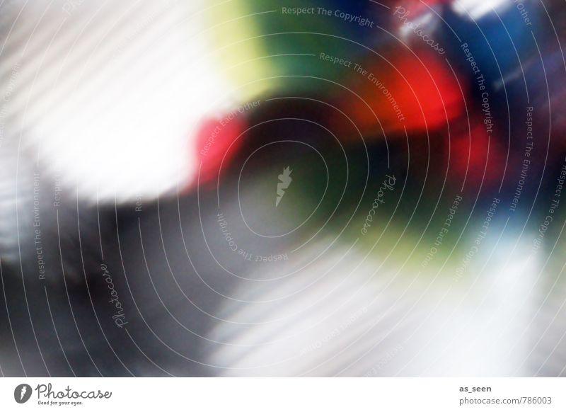 Farbenspiel Kunst Tanzen Show Medien Kaleidoskop glänzend leuchten ästhetisch Coolness modern weich blau mehrfarbig gelb grau grün rot weiß Gefühle Stimmung
