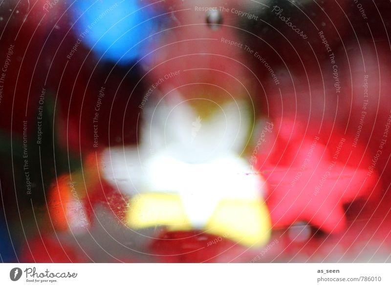 Tanzende Sterne Weihnachten & Advent blau Farbe weiß rot gelb Bewegung Stil Kunst Feste & Feiern Stimmung Design glänzend träumen Häusliches Leben