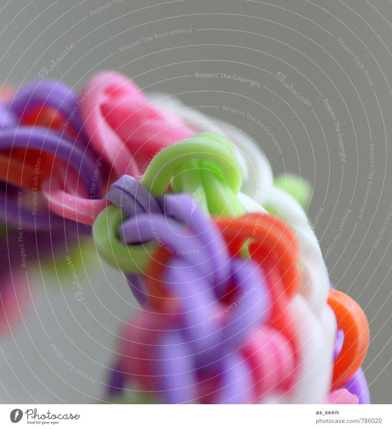 Looping Farbe weiß Freude Leben grau Mode rosa Freundschaft Freizeit & Hobby orange Lifestyle Design leuchten Fröhlichkeit ästhetisch weich