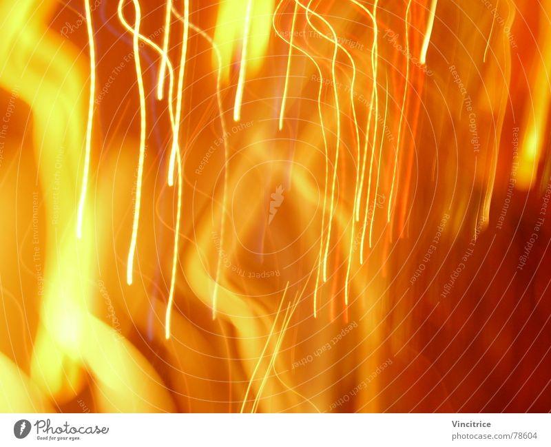 Lichtregen rot gelb Farbe Regen hell orange Streifen
