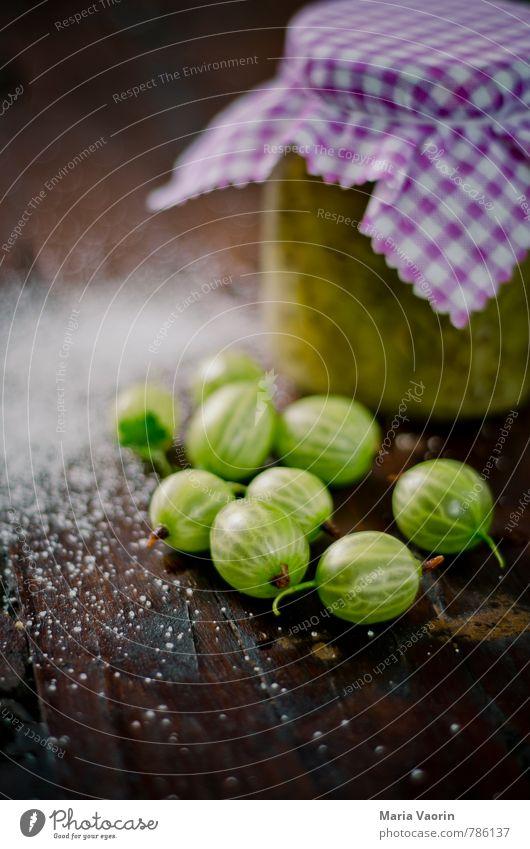 Stachelbeermarmelade 3 Lebensmittel Frucht Süßwaren Marmelade Ernährung frisch lecker sauer süß grün Stachelbeeren Einmachglas Marmeladenglas Zucker