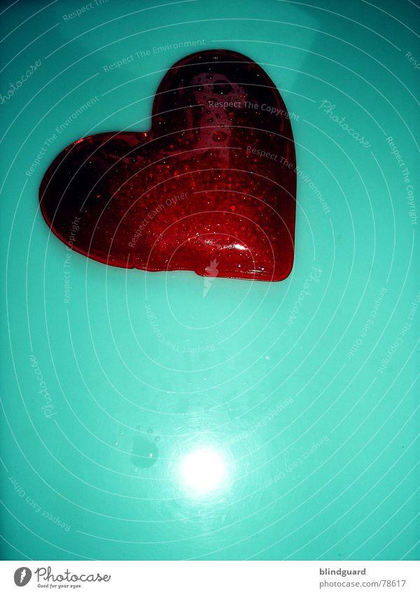 Photocase ... ich liebe es ;o) blau grün rot Liebe Gefühle Wärme Herz nass Wassertropfen Physik Punkt Schmerz feucht türkis Lust Zuneigung