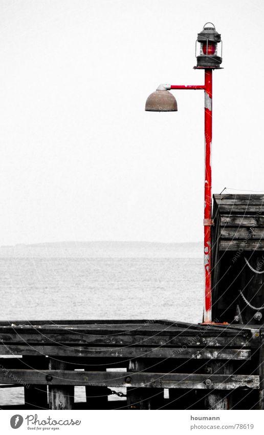 Waterlight Wasser Einsamkeit Lampe Hafen Schifffahrt Fjord stur Limfjord Brügge