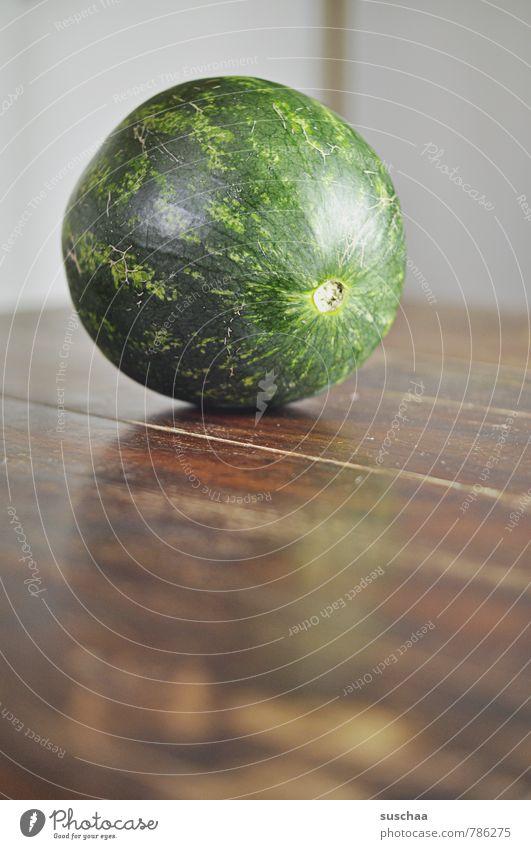 melonenkopf Lebensmittel Gemüse Ernährung Vegetarische Ernährung frisch Gesundheit lecker rund saftig grün Melonen Frucht Gedeckte Farben Innenaufnahme