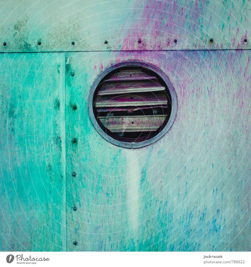 Farbe Freie Lüftung Ventilator Subkultur Straßenkunst Niete Klappe Metall Kreis einzigartig Originalität Design Kreativität Zahn der Zeit Farbrausch