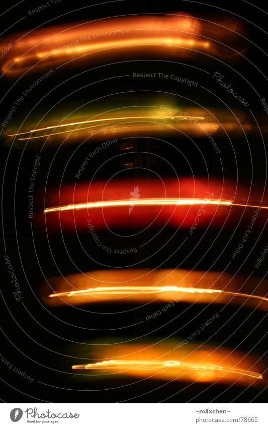 Lampions *3* Lichtgeschwindigkeit Laserschwert Langzeitbelichtung mehrfarbig rot Streifen Romantik Lichterkette angenehm dunkel knallig orange Bewegung Dynamik