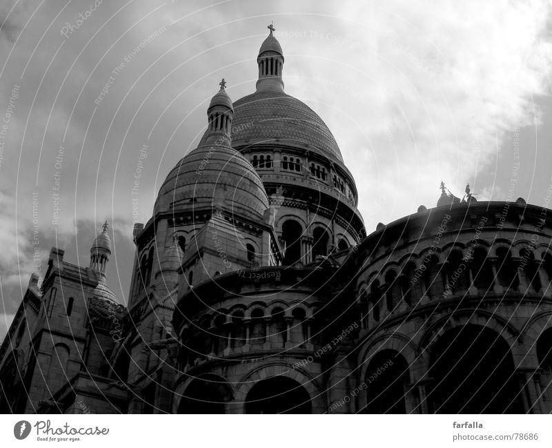 La coeur du Paris dramatisch Geborgenheit Wolken Gebäude Architektur Frankreich Religion & Glaube