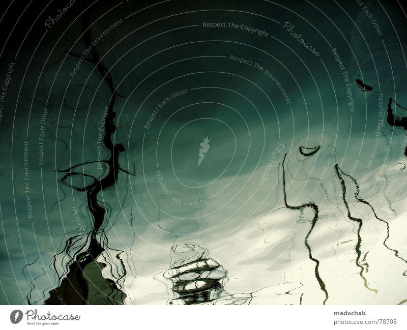DON'T WAKE ME UP Wasser Meer Ferien & Urlaub & Reisen träumen See Wasserfahrzeug Wellen Hafen Teile u. Stücke obskur Frankreich Gemälde Anlegestelle Schifffahrt