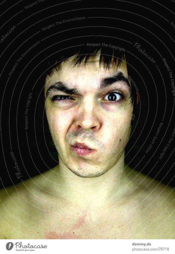 er&nichtsie 2 Mensch Mann Freude schwarz Auge dunkel Haare & Frisuren lustig Denken Hintergrundbild Wellen Mund Haut Nase verrückt Spitze