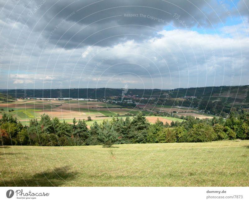 sonniges Franken Sonne Wolken schlechtes Wetter Bayern Franken