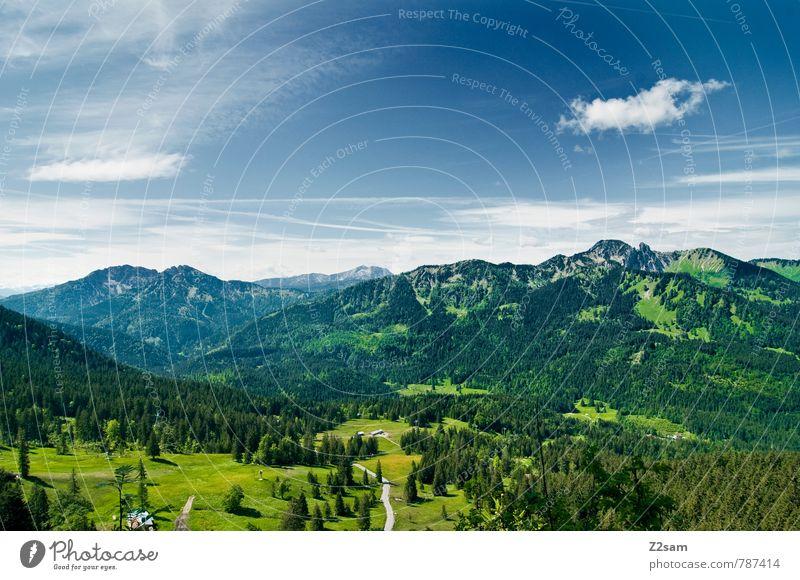 HEIMAT Ferien & Urlaub & Reisen Tourismus Ausflug wandern Umwelt Natur Landschaft Himmel Wolken Sommer Schönes Wetter Wiese Wald Alpen Berge u. Gebirge See hoch