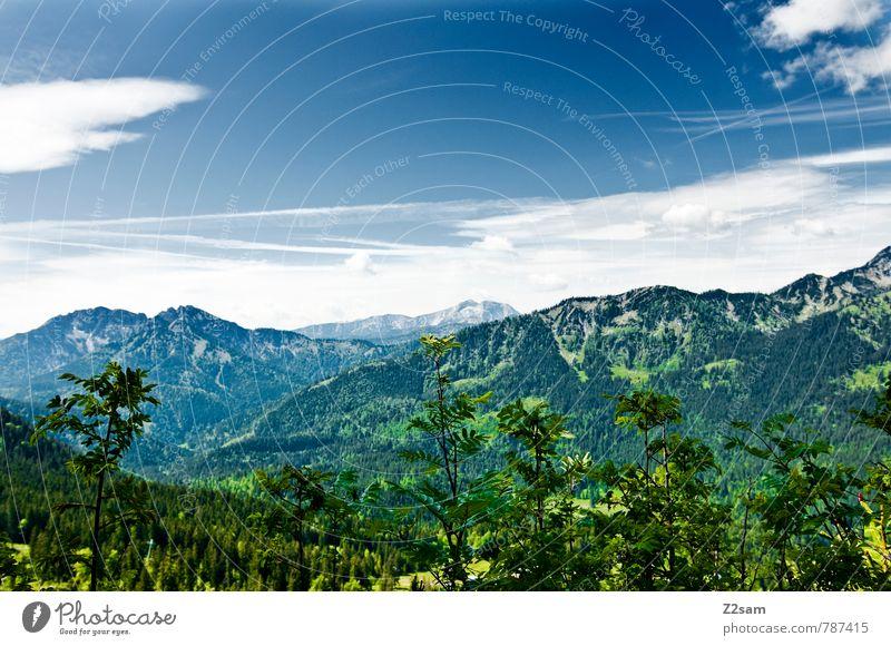 HEIMAT 2 Himmel Natur Ferien & Urlaub & Reisen blau grün Sommer ruhig Landschaft Wolken Wald Umwelt Berge u. Gebirge Wiese Wege & Pfade See Freizeit & Hobby