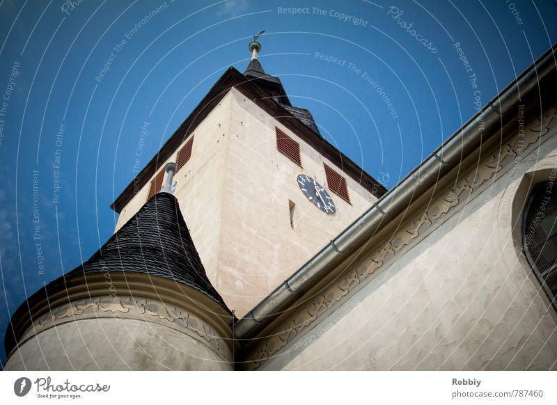 Der Kirche Türme blau Wand Architektur Mauer Religion & Glaube Fassade groß Kirche Burg oder Schloss Glaube Denkmal Dom Gotteshäuser