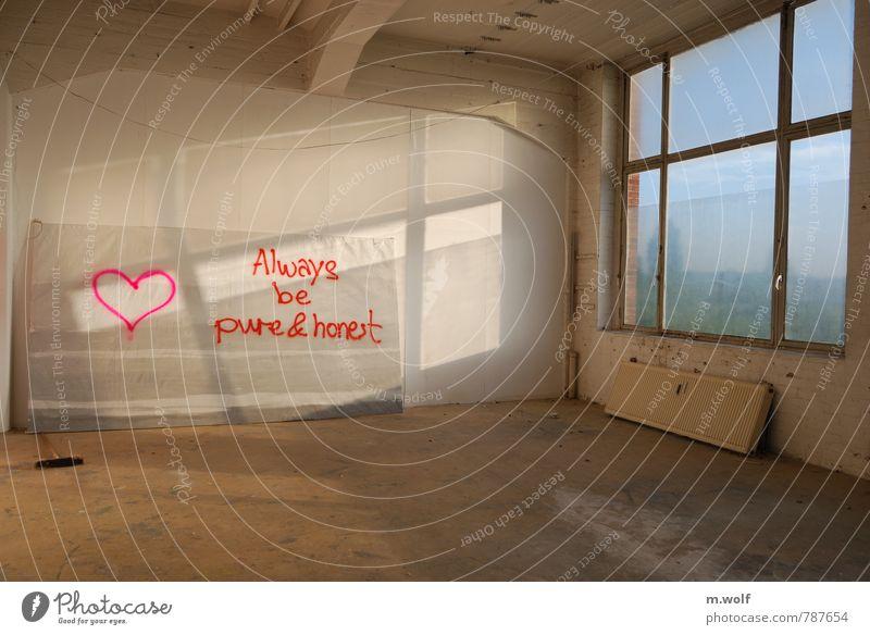 always... Stadt weiß rot Fenster Leben Architektur Graffiti Liebe Gefühle natürlich Deutschland Raum Lebensfreude retro Romantik Jugendkultur