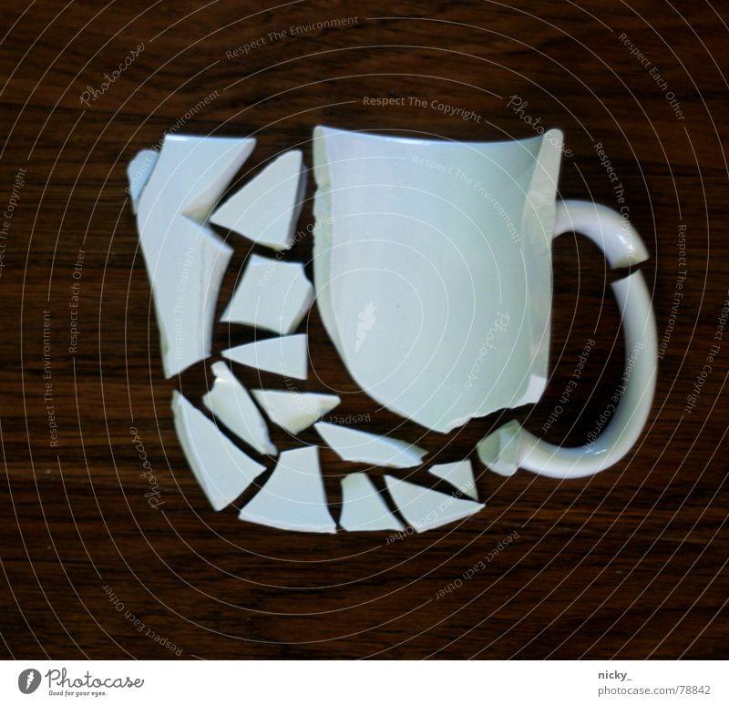 have a break Natur weiß Wärme Holz braun Physik Teile u. Stücke genießen Café Tasse Recycling Split Scherbe Splitter produzieren Bruchstück