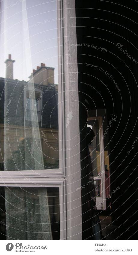 Pariser Spiegelungen Himmel Fenster Glas Dach Paris Aussicht Etage Fensterscheibe Flur Flucht Schornstein Rahmen Fensterrahmen