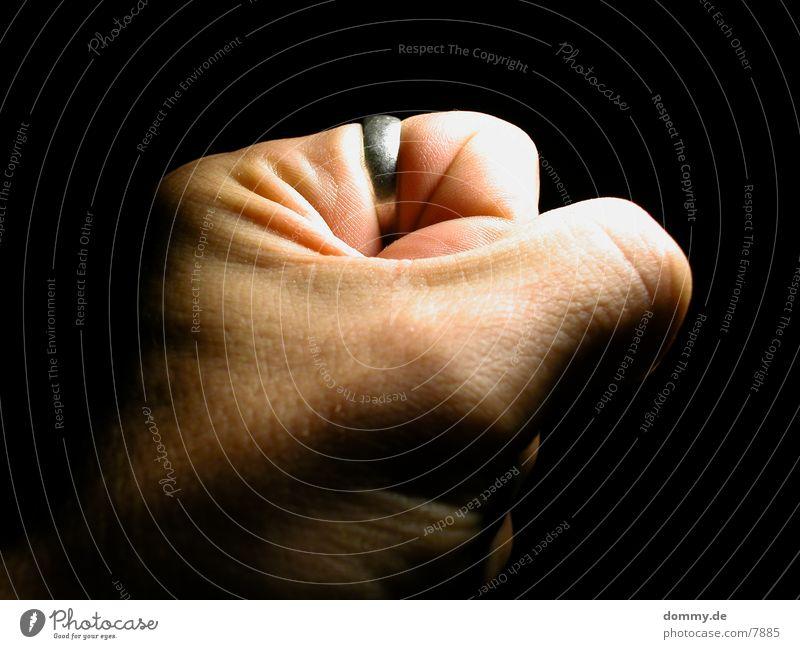 Gewalt Mensch Hand Haut Kreis Gewalt Faust