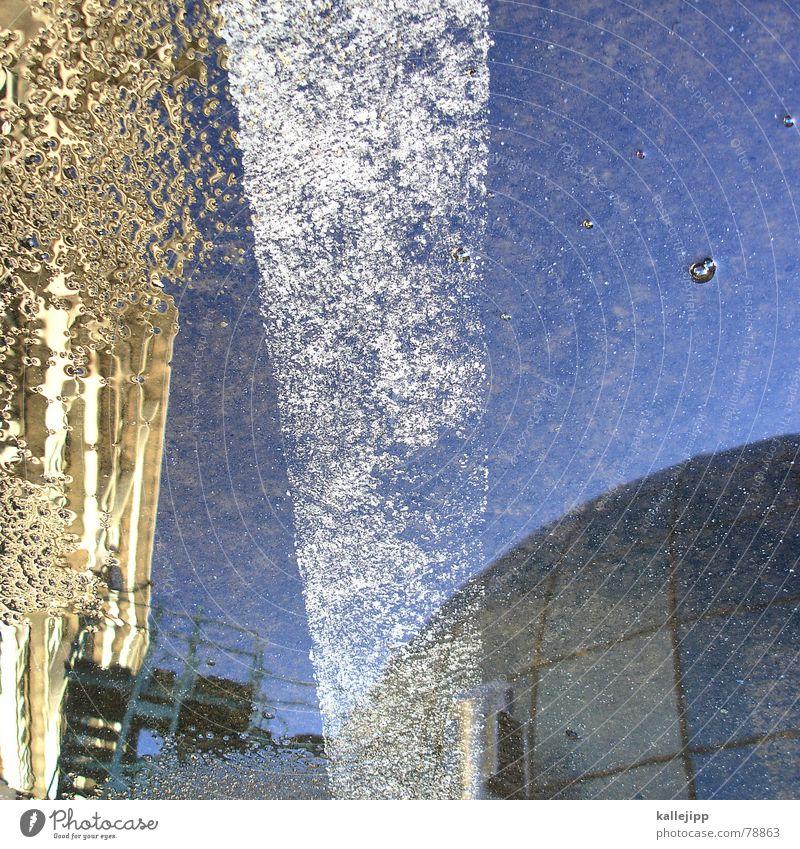himmel über berlin VI Wasser Himmel Haus Straße Wohnung Schilder & Markierungen Hochhaus Bodenbelag Asphalt Streifen Parkplatz Pfütze Plattenbau Wohnhochhaus