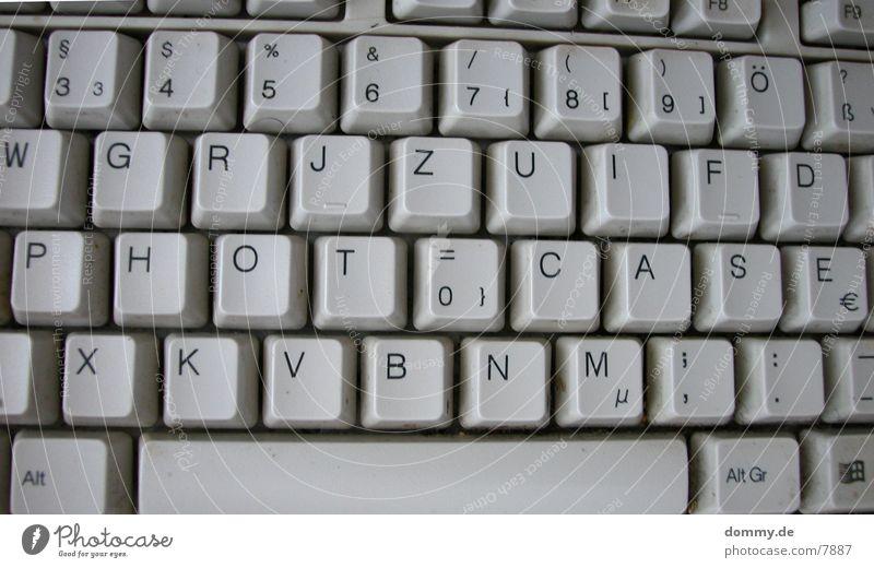 Photocase-Tastatur Buchstaben Dinge berühren