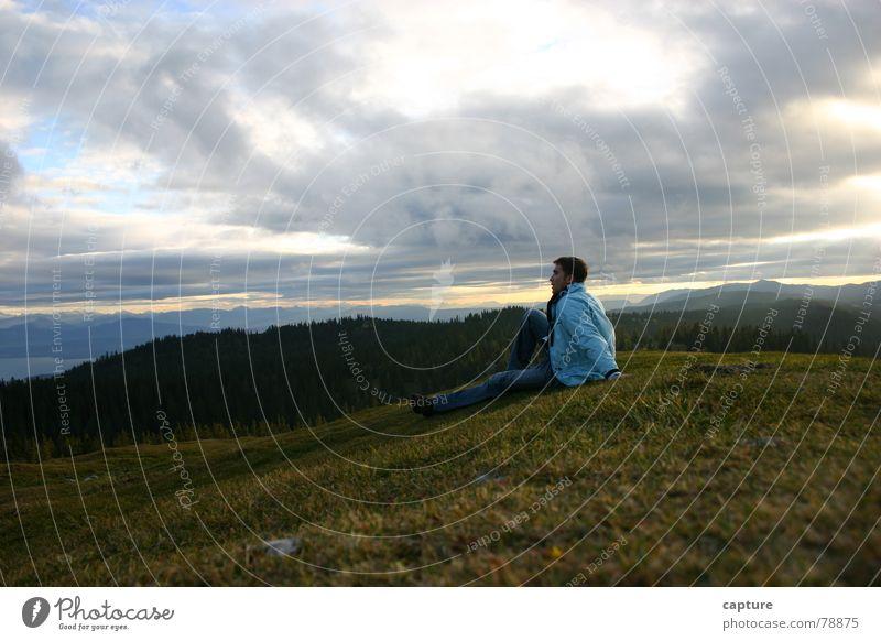 Weitblick Meer Region Schweiz kalt Heimat Wald Alm genießen Sehnsucht Ausflug Erholung Wolken Bedürfnisse Ferien & Urlaub & Reisen gemütlich Waldwiese Herbst