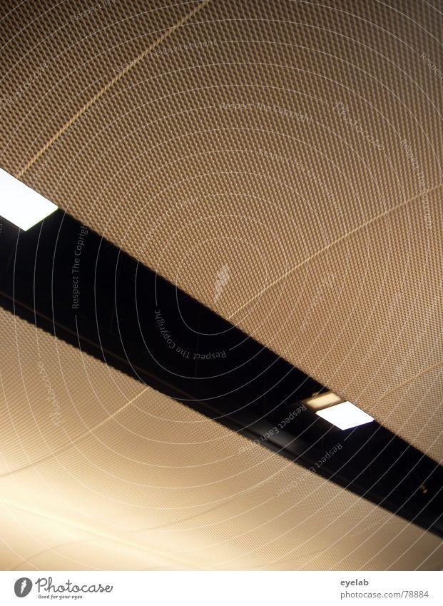 Abstrakter Konstruktivismus schön Ferien & Urlaub & Reisen schwarz Lampe Linie warten Architektur abstrakt Flughafen Bahnhof Langeweile beige Raster Abheben