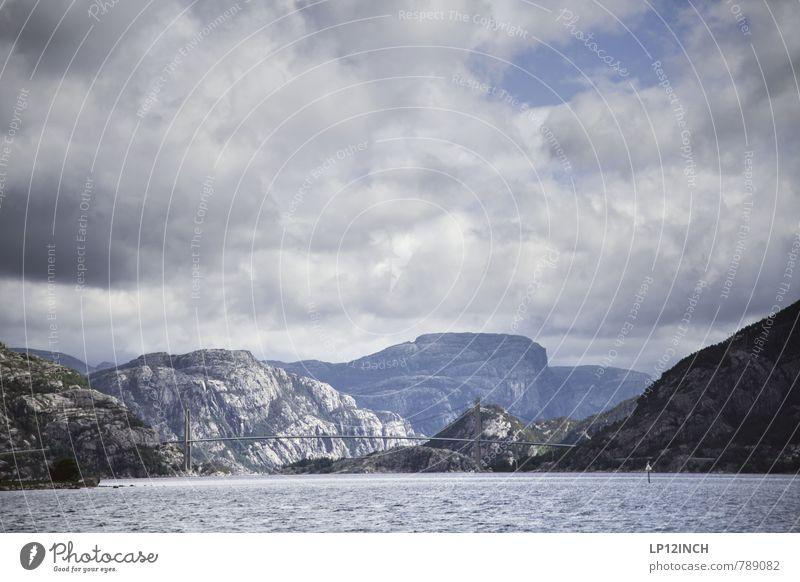 N O R W A Y - B zu A - III Ferien & Urlaub & Reisen Tourismus Sightseeing Kreuzfahrt Berge u. Gebirge Natur Landschaft Wasser Himmel Wolken schlechtes Wetter