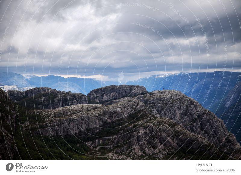 N O R W A Y - Hinterland - IV Natur Ferien & Urlaub & Reisen Einsamkeit Landschaft Wolken Ferne dunkel Umwelt Berge u. Gebirge Stein wild Tourismus wandern