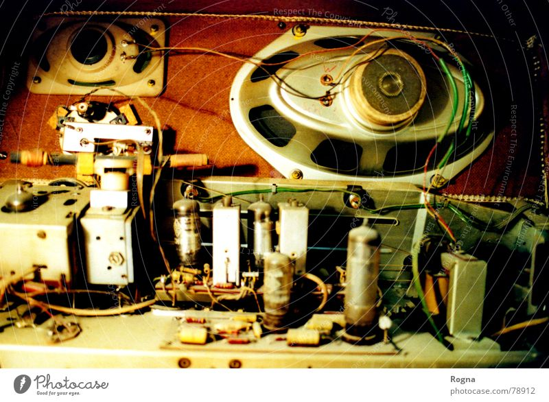 Röhrensalat alt Wellen Dinge Radio Nostalgie Staub Elektronik Elektrisches Gerät
