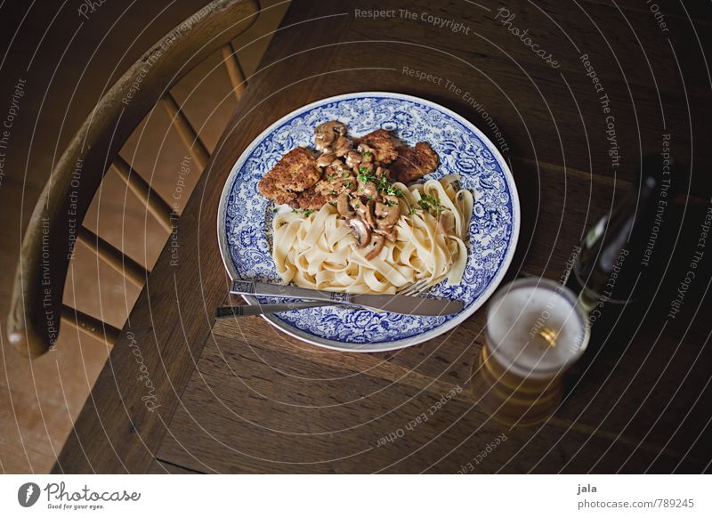 mittagstisch Lebensmittel Gemüse Teigwaren Backwaren Nudeln Sojaschnitzel Champignons Ernährung Mittagessen Bioprodukte Vegetarische Ernährung Getränk
