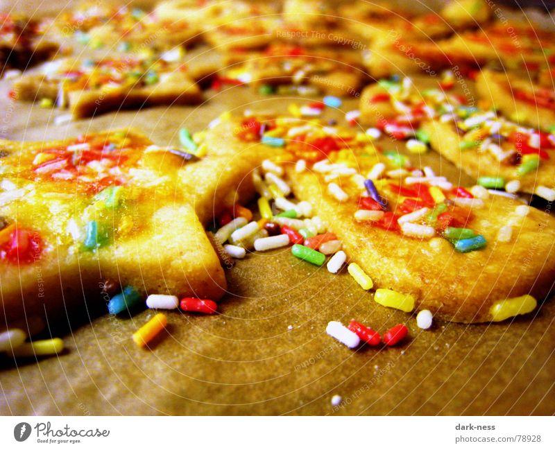 Weihnachtsstimmung Weihnachten & Advent gelb Kochen & Garen & Backen Süßwaren Plätzchen Lebensmittel Mürbeplätzchen