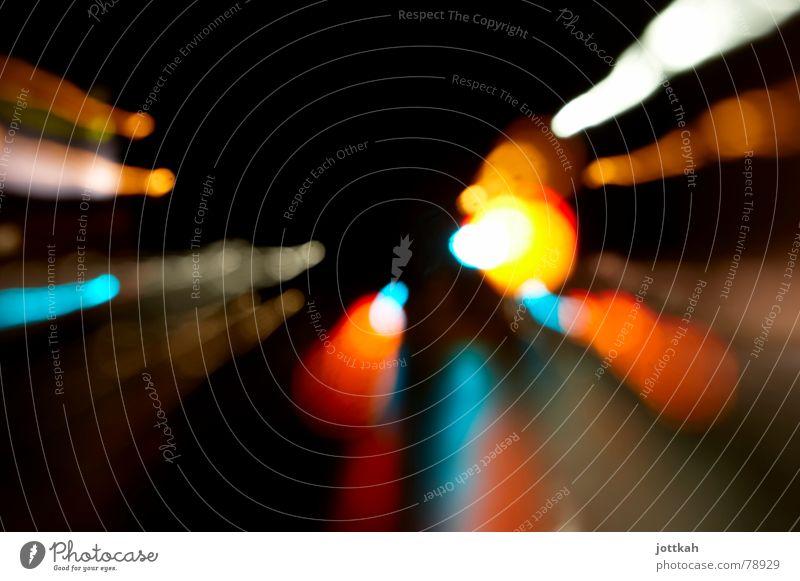 Lichter der Nacht die 7254971221696ste grün rot gelb Straße Lampe dunkel orange Kreis Fleck Zoomeffekt