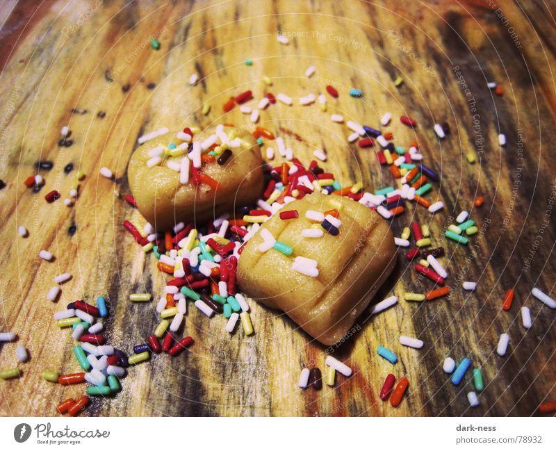 Streuselbrötchen Weihnachten & Advent Winter Backwaren lecker Süßwaren Brot Brötchen Teigwaren Plätzchen knallig unvollendet