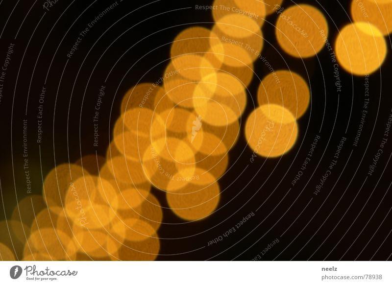 | dot.s | Licht Unschärfe gelb dunkel braun Kreis Lichtbrechung Streulicht Weihnachten & Advent Winter Strahlung Nacht vage Physik sterntaler