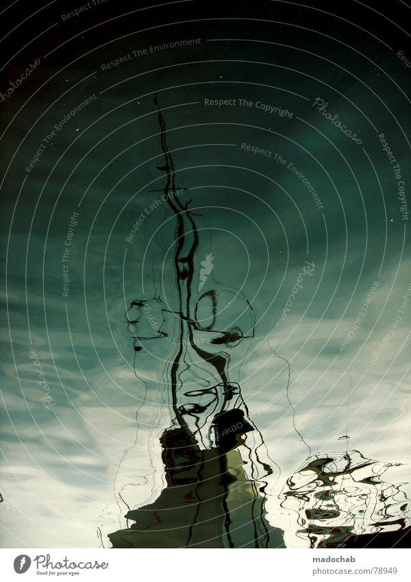 FÜNFZWONULL Wasser Ferien & Urlaub & Reisen Meer See träumen Wasserfahrzeug Wellen Hafen Gemälde Teile u. Stücke Anlegestelle Frankreich obskur durcheinander Surrealismus Oberfläche